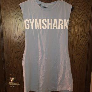 Gymshark men's Bold Drop Armhole Tank- Chalk Blue